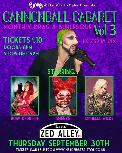Cannonball Cabaret Vol 3 at Zed Alley in Bristol