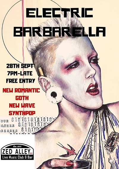 Electric Barbarella Alternative 80's Club Night at Zed Alley in Bristol