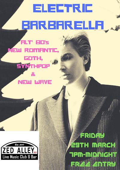 Electric Barbarella Club Night at Zed Alley in Bristol