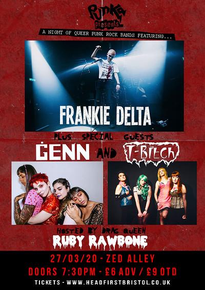 Punka Presents: Frankie Delta / GENN / T-Bitch at Zed Alley in Bristol