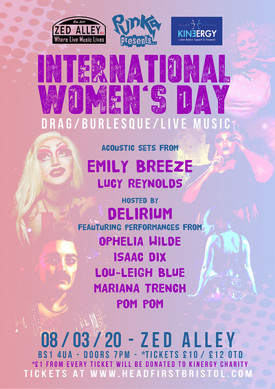 Punka presents: International Women's Day Show at Zed Alley in Bristol
