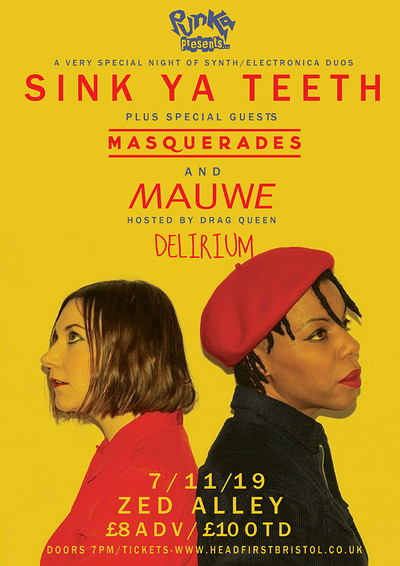 Punka Presents: Sink Ya Teeth / Masquerades /Mauwe at Zed Alley in Bristol