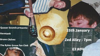Ravetank//Bruno Chávez//The Byker Grove Fan Club at Zed Alley in Bristol