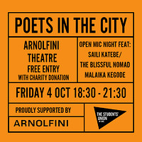 Poets in the City at Arnolfini in Bristol