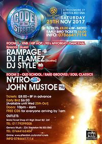 Code of the Streets Sat 25th Nov at Basement 45 in Bristol