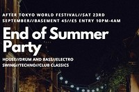 End of Summer Party at Basement 45 in Bristol