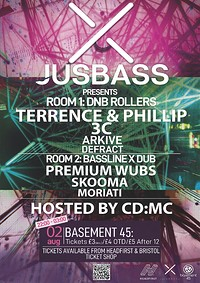 JusBass: Terrence + Phillips w/CD:MC at Basement 45 in Bristol