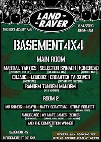 Land Raver Presents: Basement 4x4 at Basement 45 in Bristol