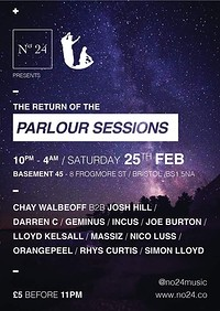 No24 presents: Parlour Sessions at Basement 45 in Bristol