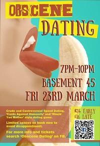 Obscene Dating at Basement 45 in Bristol
