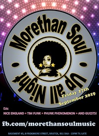 "This is... ""Morethan Soul"" at Basement 45 in Bristol"