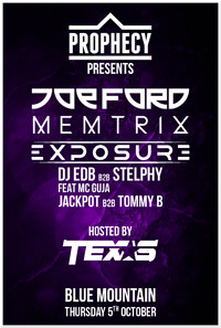 Prophecy Presents: Joe Ford & Memtrix at Blue Mountain in Bristol