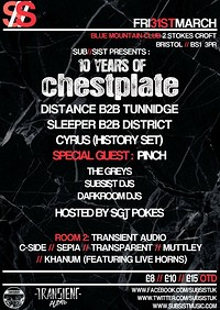 Subsist Presents: 10 Years Of Chestplate at Blue Mountain in Bristol