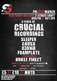 Subsist Presents: 3 Years of Crucial Recordings at Blue Mountain in Bristol