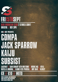 Subsist Presents: Compa // Jack Sparrow // Kaiju at Blue Mountain in Bristol