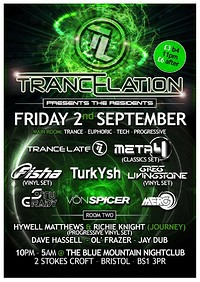 Trancelation Presents The Residents at Blue Mountain in Bristol
