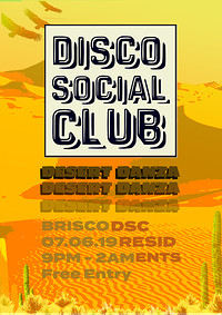 Disco Social Club: Desert Danza at BRISCO in Bristol