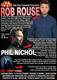 ROB ROUSE / PHIL NICHOL / TONY VINO at Bristol Bierkeller in Bristol