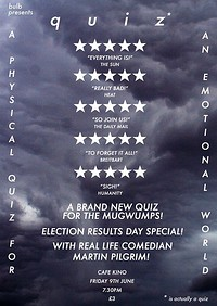 bulb resents: Quiz! Election Results Day Special! at Cafe Kino in Bristol