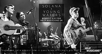 Solana + Young Waters - Benefit for Help Musicians at Cafe Kino in Bristol