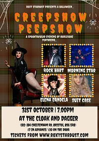 Creepshow Peepshow: A Halloween Burlesque Show at Cloak and Dagger, The in Bristol