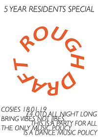 5 Years of Rough Draft Residents Special  at Cosies in Bristol