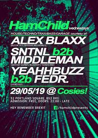 HamChild Presents: Alex Blaxx, SNTNL & Middleman at Cosies in Bristol
