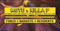 Pixels Presents: Motu x Killa P / Fonzo / Namaste at Cosies in Bristol