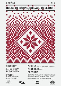 Sanākt / House to Techno, Chicago to Detroit at Cosies in Bristol
