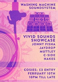 Washing Machine SoundSystem: Vivid Sounds Showcase at Cosies in Bristol