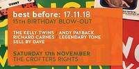 Best Before: 15th Birthday Blow-out at Crofters Rights in Bristol