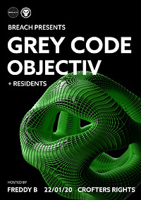 Breach Presents: Grey Code w/ Objectiv at Crofters Rights in Bristol