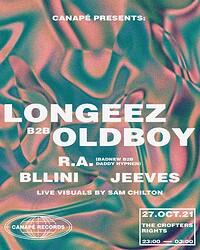 Canapé Presents: LONGEEZ b2b OLDBOY at Crofters Rights in Bristol