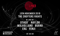 Cipher: The launch Party at Crofters Rights in Bristol