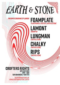 EARTH & STONE presents Crashing EP Launch at Crofters Rights in Bristol