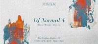 Musu ft. DJ Normal 4 at Crofters Rights in Bristol