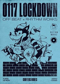Off Beat X Rhythm Works: 0117 Lockdown at Crofters Rights in Bristol