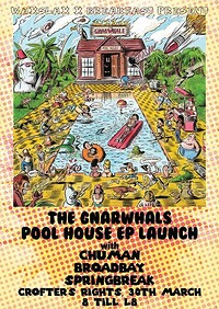 The Gnarwhals Pool House EP Launch at Crofters Rights in Bristol