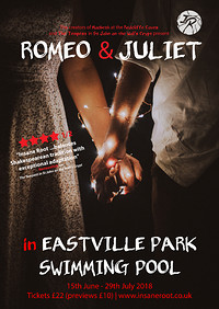 Romeo & Juliet in Eastville Park Swimming Pool at Eastville Park Swimming Pool in Bristol