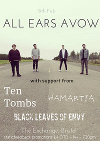 All Ears Avow, Ten Tombs plus Support at Exchange in Bristol