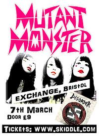 Mutant Monster return to Bristol! at Exchange in Bristol
