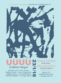 UUUU + Errant Monks + Microdeform + Schwet DJs at Exchange in Bristol