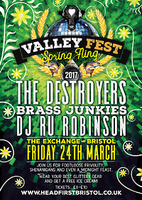 Valley Fest Spring Fling - The Destroyers & More at Exchange in Bristol