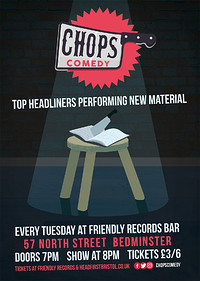 Chops Comedy at Friendly Records in Bristol