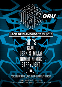 Prjkts presents ☰ Prjkts Cru All Night Long at Jack of Diamonds in Bristol