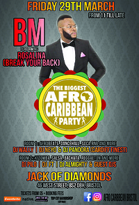 The Biggest Afro Caribbean party at Jack Of Diamonds in Bristol
