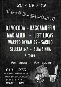 Trakta x Zło-Tek Present Time Clash/ Vocoda + More at Jack Of Diamonds in Bristol