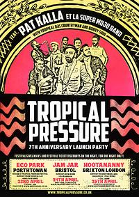 POSTPONED Tropical Pressure Festival Launch Party  at Jam Jar in Bristol