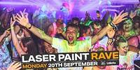 Freshers' Laser Paint Rave at Lakota in Bristol