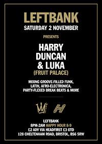 Leftbank presents: Fruit Palace DJs at LEFTBANK in Bristol